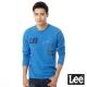 Lee 長袖T恤 拼接字樣幾何印刷-男款(亮藍) product thumbnail 1