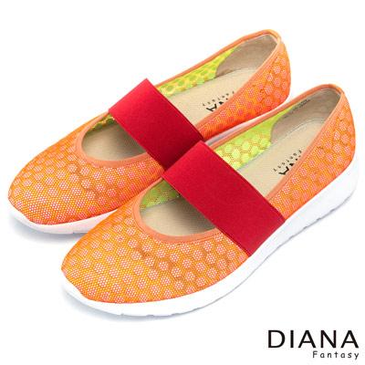 DIANA-輕-愛的-超輕量透氣面料寬版背帶平底鞋