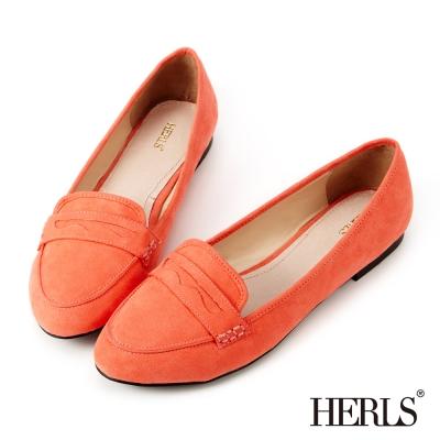 HERLS~法式簡約 柔軟樂福鞋~橘色