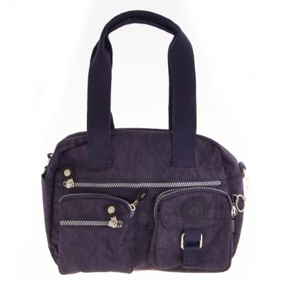 MANDE RHODE 雙口袋手拿肩側兩用包-深藍(3020)