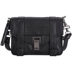 PROENZA SCHOULER PS1 Mini Pouch 山羊皮革斜背包(黑色)