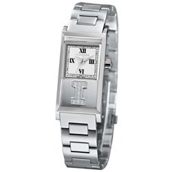 ICEBERG 冰山系列LOGO真鑽時尚腕錶-白/20x36mm