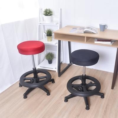 凱堡 圓型轉轉特規20公分 附腳踏圈 布面旋轉吧檯椅