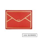 LULU GUINNESS LULU信封造型萬用卡片夾-珊瑚紅