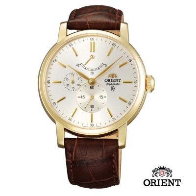 ORIENT 東方錶 POWER RESERVE系列 藍寶石機械錶-金色/41mm