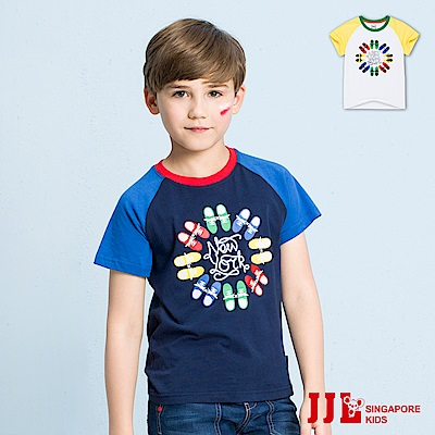 JJLKIDS 手繪球鞋圓領短袖棉上衣T恤(2色)