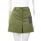 ALBERTA FERRETTI 綠色素面挺版棉質短褲