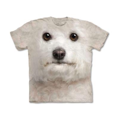 摩達客 美國進口The Mountain 捲毛比熊犬臉  純棉環保短袖T恤
