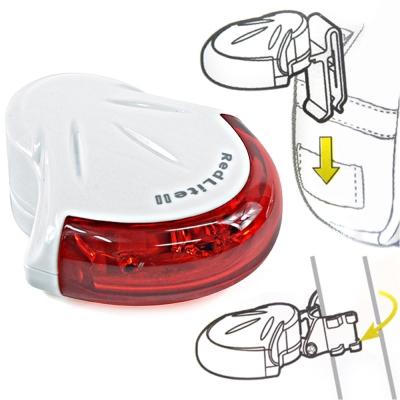 加購-Jango-flik-流線型4紅光LED廣角2段式警示後燈尾燈-台灣製-白
