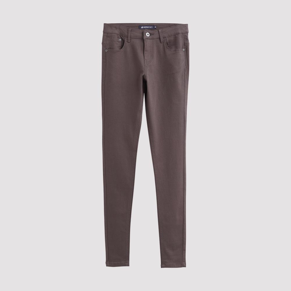 Hang Ten - 女裝 - 彈性修身美型窄管褲-咖
