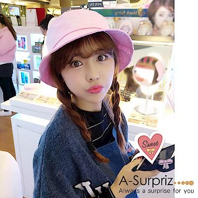 A-Surpriz 韓風英文字母漁夫帽(粉)