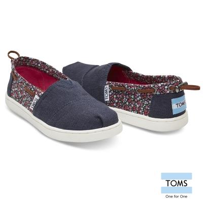 TOMS 碎花拼接懶人鞋-孩童款