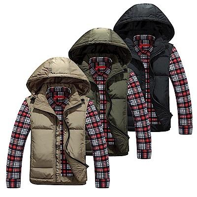 美國熊 方便簡潔 保暖度佳 可拆式連帽羽絨背心