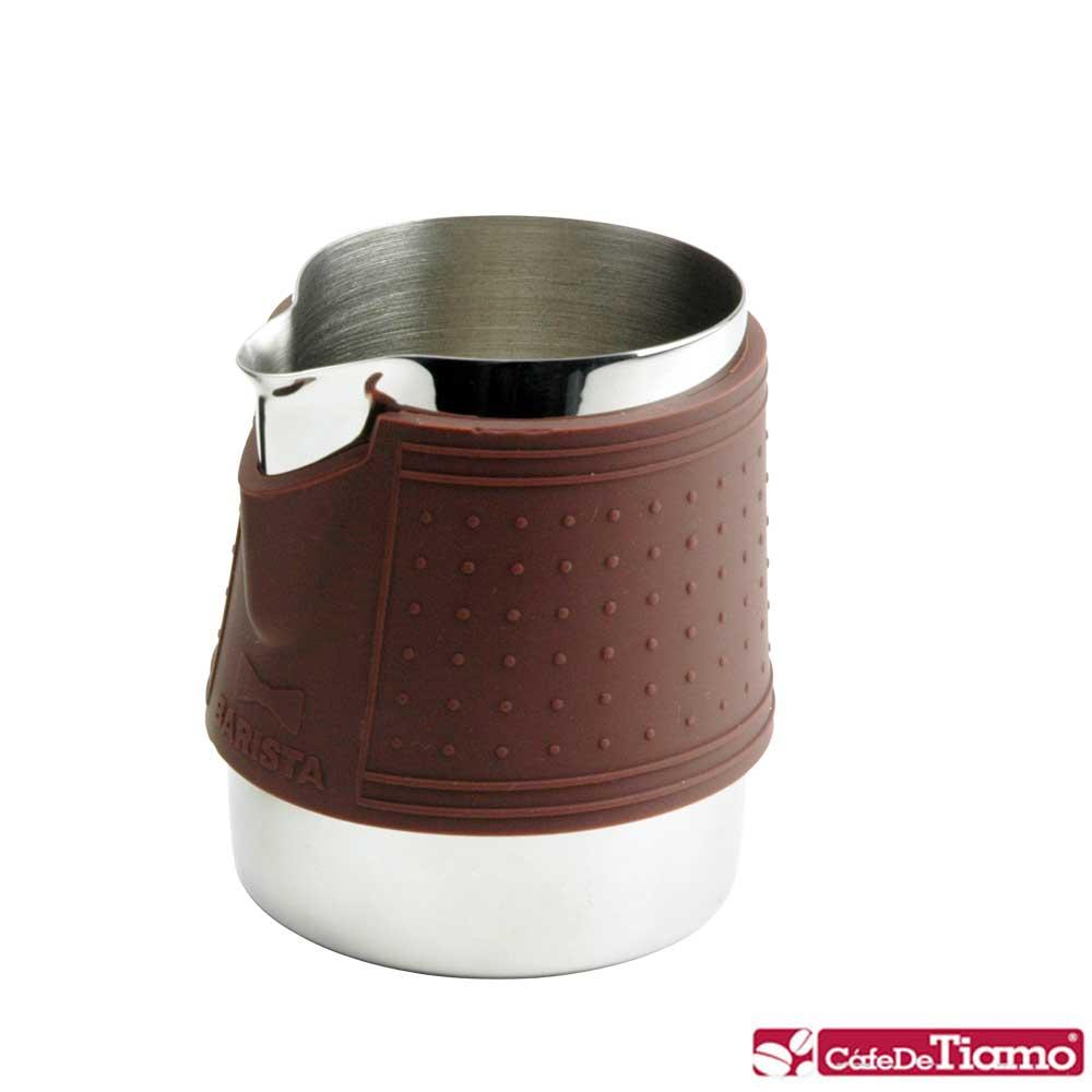 Tiamo 1029 拉花杯附矽膠杯套300cc-咖啡色(HC7064)