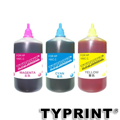 TY 『HP專用』 連續供墨補充墨水100CC (藍紅黃)
