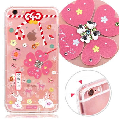 KnowStar APPLE iPhone6/6s 奧地利水晶彩繪防摔許願鑽殼-...