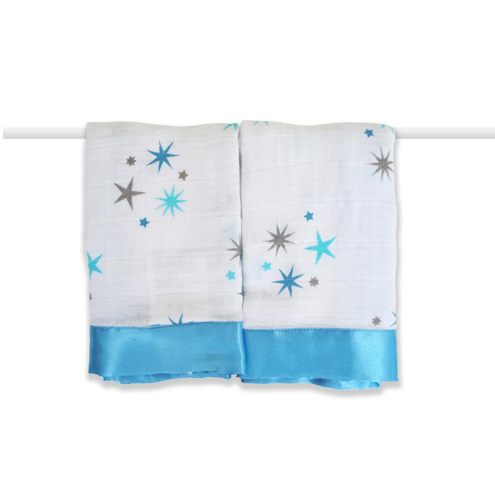 美國 aden+anais 嬰兒安撫巾 - 藍色星星AA7503