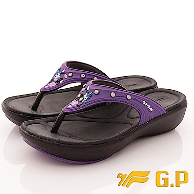GP時尚涼拖-花漾晶鑽夾腳鞋款-SE530W-41紫(女段)