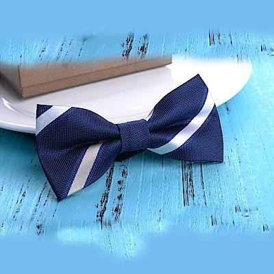 拉福 領結新郎結婚領結糾糾兒童(藍白條)
