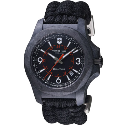 VICTORINOX瑞士維氏I.N.O.X. Carbon系列悍勇求生碳纖腕錶-43mm