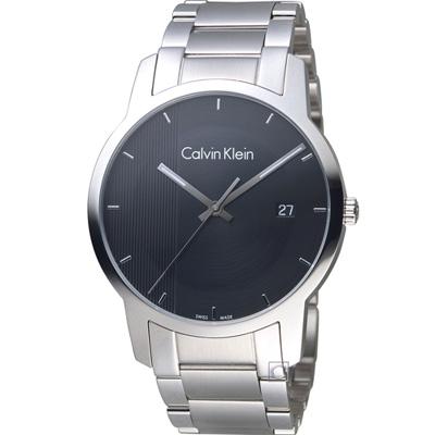 Calvin Klein City Gity 都會系列時尚腕錶-黑/43mm
