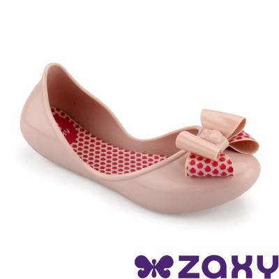 Zaxy 巴西 女童 START BOW II休閒娃娃鞋(淺粉)