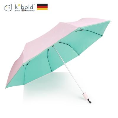 德國kobold酷波德 抗UV夏威夷風情-超輕巧 遮陽防曬三折傘-綠色
