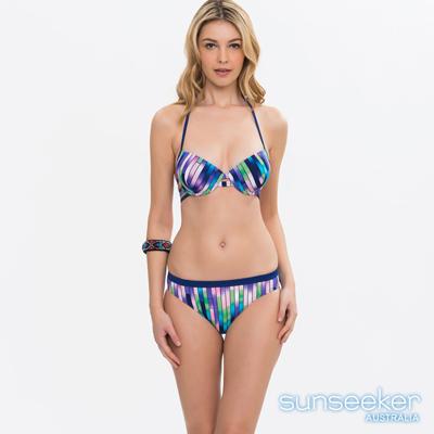 澳洲Sunseeker泳裝時尚漸層條紋集中鋼圈兩件式比基尼泳衣
