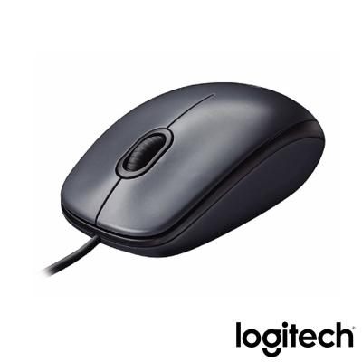 羅技  M90有線滑鼠USB黑灰(New)