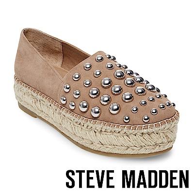 STEVE MADDEN-PITCH 鉚釘麻編厚底便鞋-棕色