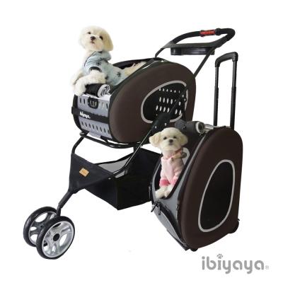 IBIYAYA依比呀呀-FS1009五彩繽紛寵物推車提包組-咖啡