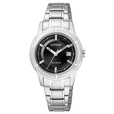 CITIZEN 光動能世紀都會時尚女錶(FE1030-50E)-黑/30mm