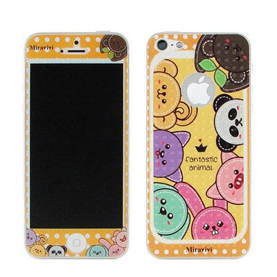 Miravivi iPhone5/5S/SE 動物狂想曲系列雙面彩繪保護貼