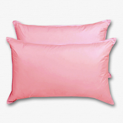 原色布屋 純淨天然羽絨枕 2入 粉紅