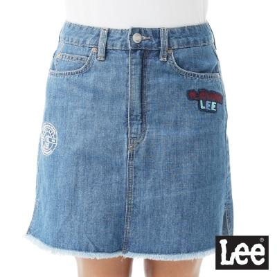 Lee 牛仔短裙/SMU-女款-中深藍