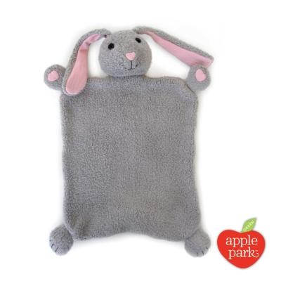 美國 Apple Park 有機棉安撫巾彌月禮盒 - 小兔子