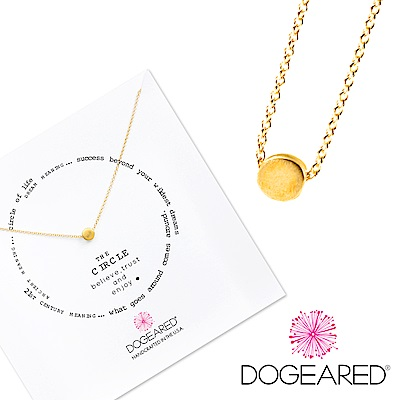 Dogeared 許願項鍊 金色豆豆 Circle Necklace 附原廠禮盒