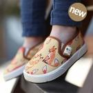 Kinderspel 街頭時尚-正韓彈性舒適帆布鞋 (樂天跳跳狐)