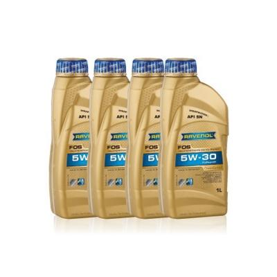 【RAVENOL漢諾威】FOS 5W-30 全合成節能機油(4入組)