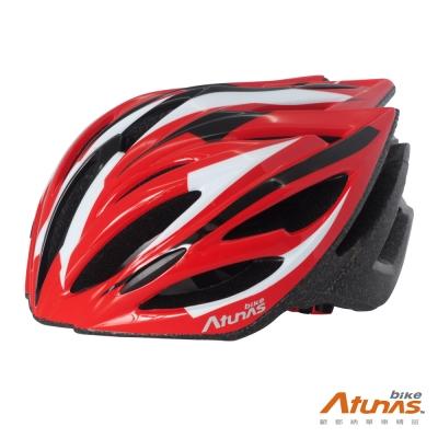 《Atunas Bike》歐都納 單車HE1601 MOTION安全帽 紅/黑/白