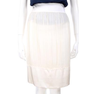 PHILOSOPHY 米黃色紗質拼接及膝裙
