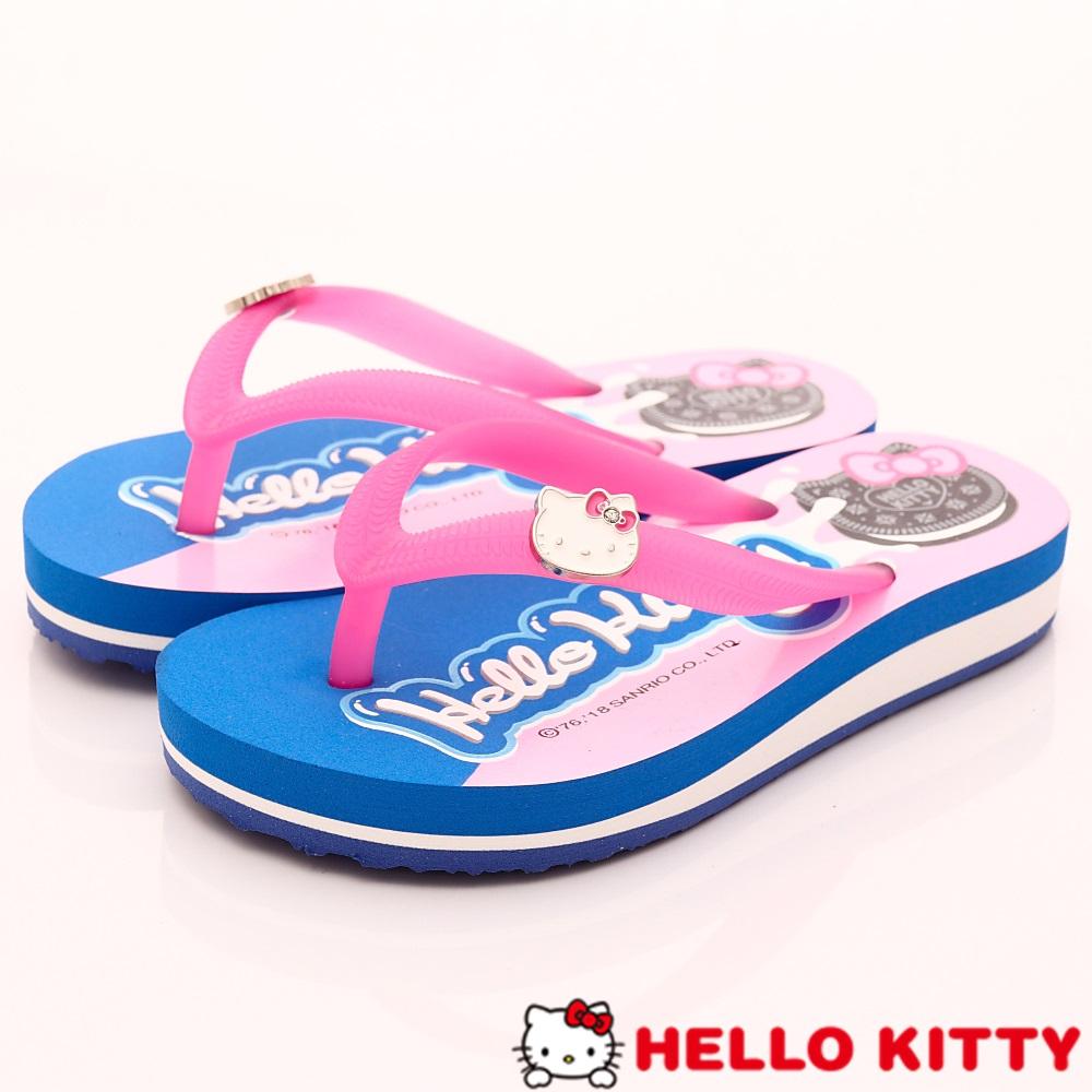 HelloKitty童鞋 餅乾造型夾腳拖鞋款 EI18155桃(中大童段)