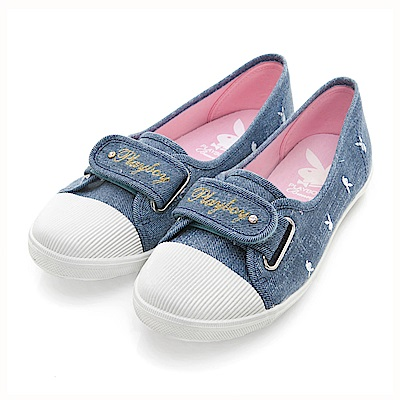 PLAYBOY 悠閒時光 率性輕便單寧風便鞋-藍