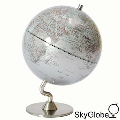 SkyGlobe-5吋銀色時尚地球儀-英文版