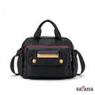 satana - MAMA 多功能側背手提包 - 黑色