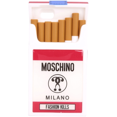 MOSCHINO Fashion Kills 香菸盒造型橡膠 iPhone6 手機殼