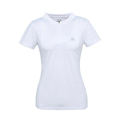 FILA 女抗UV吸濕排汗T恤-白5TES-1312-WT