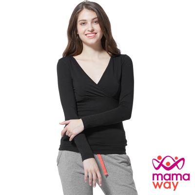 [2件8折]mamaway哺乳衣/衛生衣/發熱衣保暖中空紗衛生衣(共四色)