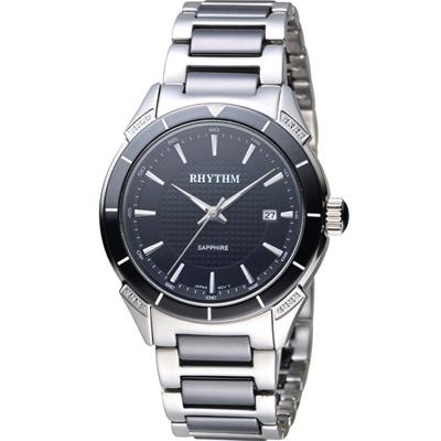 麗聲錶 RHYTHM 天使之心陶瓷腕錶(F1207T02)黑/38mm
