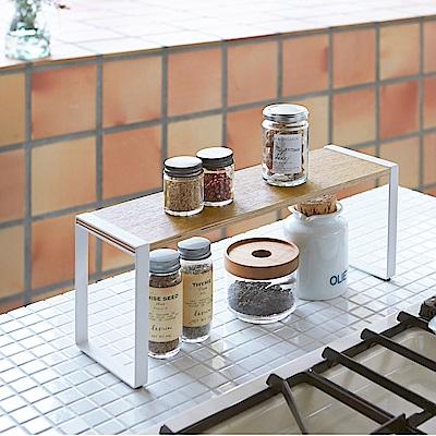 日本 YAMAZAKI-tosca 木紋單層架★廚房用品/收納架/置物架